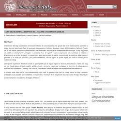 L'uso del blog nella didattica dell'italiano: l'esempio di Adgblog