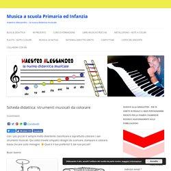 Scheda didattica: strumenti musicali da colorare