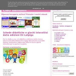 Schede didattiche e giochi interattivi dalle edizioni Eli LaSpiga