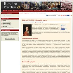 Biographie de Diderot