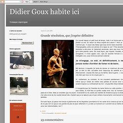 Didier Goux prend ses aises: Grande résolution, que j'espère déf