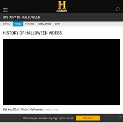 Bet You Didn't Know: Halloween Video - History of Ghost Stories