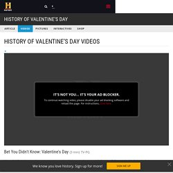 Bet You Didn't Know: Valentine's Day Video - History of Valentine's Day