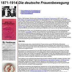 Die deutsche Frauenbewegung