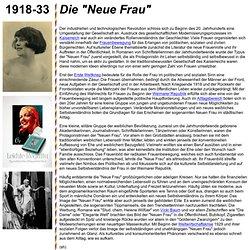 """Die """"Neue Frau"""""""