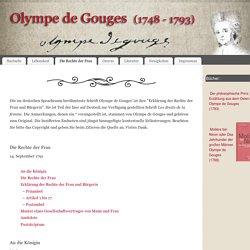 Die Rechte der Frau – Olympe de Gouges