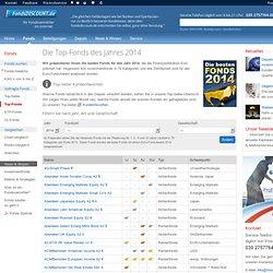 Die Top-Fonds des Jahres 2012