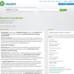 Job (San Diego): Executive Coordinator