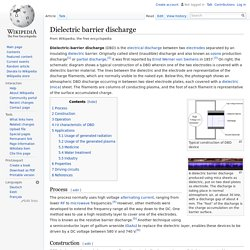 Dielectric barrier discharge