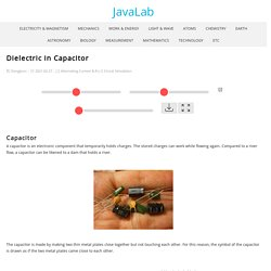 Dielectric in Capacitor - JavaLab