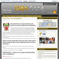 Dien Chan : La Constipation - DienCong