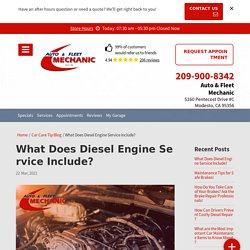 Do you want to know what does diesel engine service include?