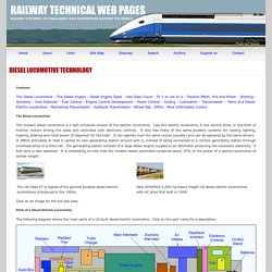 Diesel Locomotive Technology