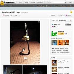 Dieselpunk USB Lamp