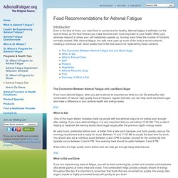 Diet for Adrenal Fatigue