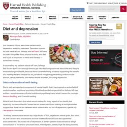 Diet and depression