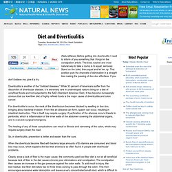 Diet and Diverticulitis