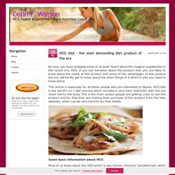 HCG diet – the most demanding diet product of the era