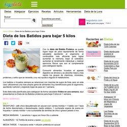 Dieta de los Batidos para bajar 5 kilos