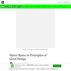 Dieter Rams 10 Principles of Good Design