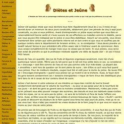Diètes et Jeûne