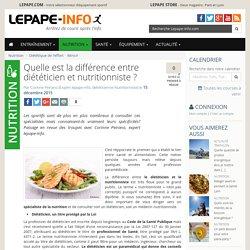 Quelle est la différence entre diététicien et nutritionniste