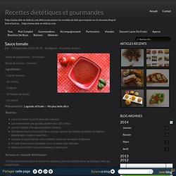 Sauce tomate - Recettes diététiques et gourmandes