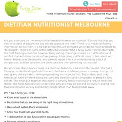 Dietitian Nutritionist Melbourne - Fussy Eating Solutions