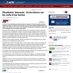 Dieudonné, Vanneste : loi du silence sur les juifs et homos