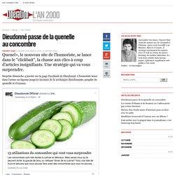 l'An 2000 - Dieudonné passe de la quenelle au concombre - Libération.fr
