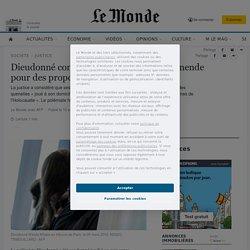 Dieudonné condamné à 10000euros d'amende pour des propos racistes