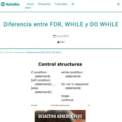 Diferencia entre FOR, WHILE y DO WHILE