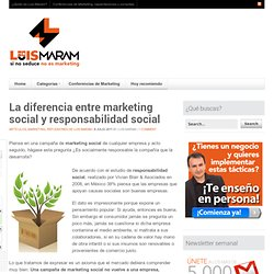 La diferencia entre marketing social y responsabilidad social