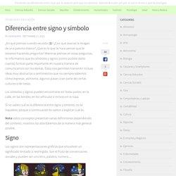 Diferencia entre signo y símbolo