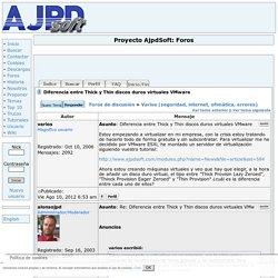 Diferencia entre Thick y Thin discos duros virtuales VMware Foro Proyecto AjpdSoft