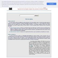 UMBRALES ABSOLUTO Y DIFERENCIAL - Psicofísica - Diccionario de Psicología