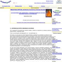 DIFERENCIAS ENTRE COMUNIDAD & SOCIEDAD