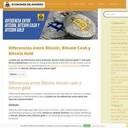 + de 5 diferencias entre Bitcoin, Bitcoin Cash y Bitcoin Gold □