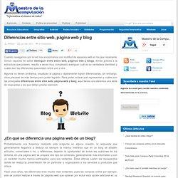 Diferencias entre sitio web, página web y blog