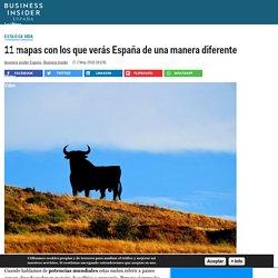 11 mapas con los que verás España de una manera diferente