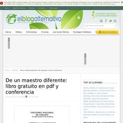 De un maestro diferente: libro gratuito en pdf y conferencia