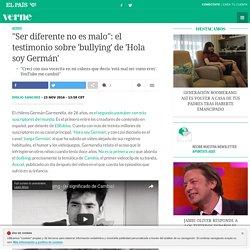 """""""Ser diferente no es malo"""": el testimonio sobre 'bullying' de 'Hola soy Germán'"""