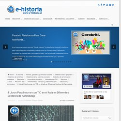 4 Libros Para Innovar con TIC en el Aula en Diferentes Sectores de Aprendizaje - E-Historia