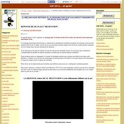 JL Mélenchon répond à la diffamation sur salaire et indemnités en buzz sur le net