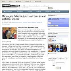 Difference Between American League and National League | Difference Between | American League vs National League