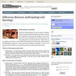 difference between sociology and anthropology pdf