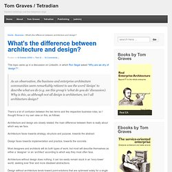 What's the difference between architecture and design?