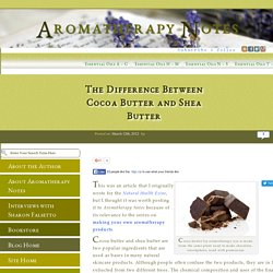 The Difference Between Cocoa Butter and Shea Butter - Aromatherapy Notes