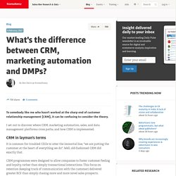 What's the difference between CRM, marketing automation and DMPs?