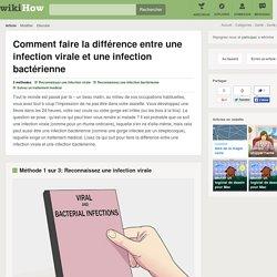 3 manières de faire la différence entre une infection virale et une infection bactérienne